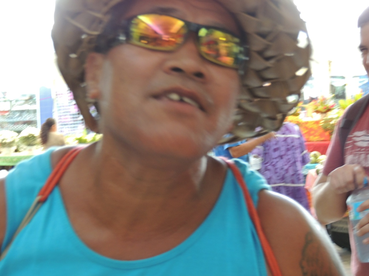 Crazy Tahitian in the Market