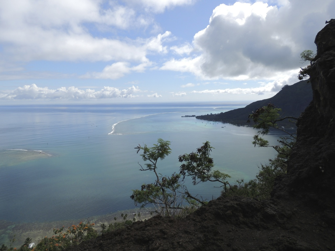Another view of Moorea from the peak of Magic Mountain