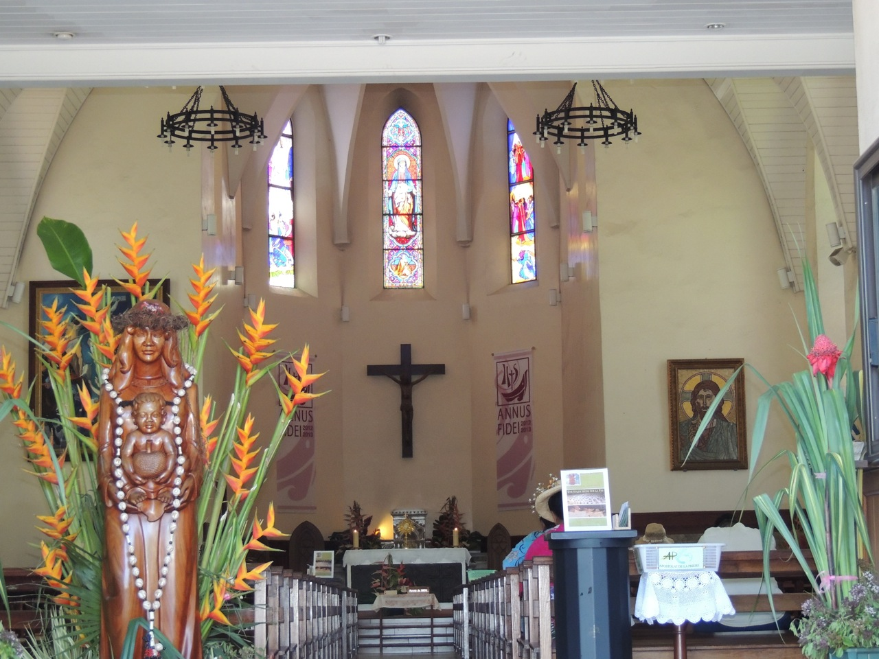 Inside Papeete Catherdral - Notre Dame